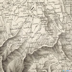 Napoleonic 1812 map of the Stanislavov area.
